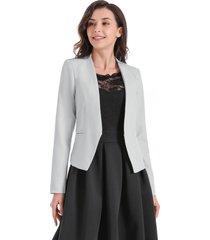blazer entallado clásico gris nicopoly