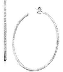 "eliot danori inside out 2"" medium hoop earrings, created for macy's"