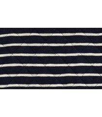 women's madewell quilted studio stripe mock neck sweatshirt, size x-small - black