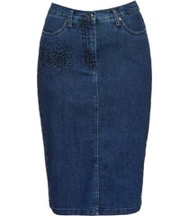 gonna di jeans con strass (blu) - bpc selection