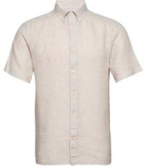 fredrik bd ss-clean linen kortärmad skjorta creme j. lindeberg