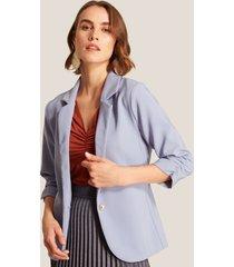 blazer unicolor azul plomo-xl