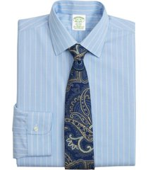 camisa stretch milano slim-fit celeste brooks brothers