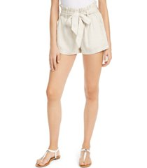 rewash juniors' belted paper-bag shorts