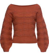 maglione con spalle scoperte (marrone) - rainbow