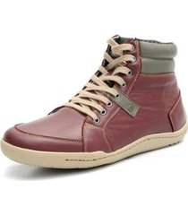 sapatenis couro shoes grand cano alto masculino - masculino