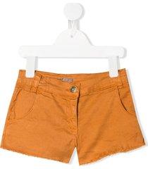 emile et ida frayed fitted shorts - neutrals