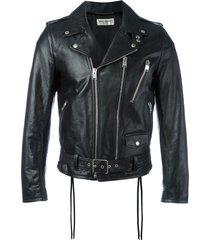saint laurent signature motorcycle jacket - black