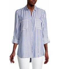 beach lunch lounge women's kaia striped shirt - tuesday - size xs