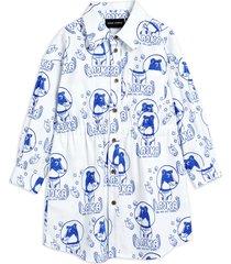 lajka woven shirt dress jurk blauw mini rodini