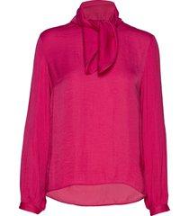 claraiw scarf blouse blouse lange mouwen roze inwear