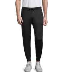 bertigo men's drawstring jogger pants - black - size xl