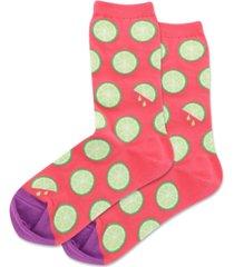 hot sox women's citrus crew socks