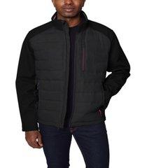 nautica men's mixed media softshell jacket