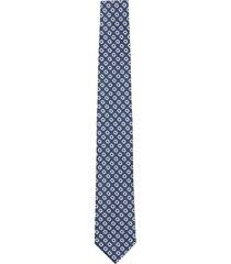 krawat makrowzór niebieski 102