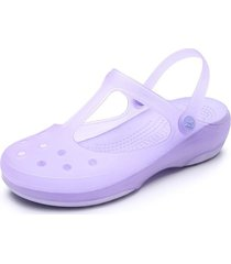 sandalias de playa antideslizantes para mujer-violeta
