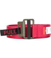 heron preston woven logo belt - red