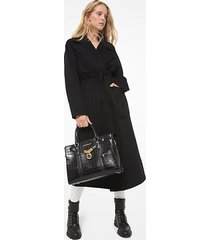 mk cappotto double-face in misto lana - nero (nero) - michael kors