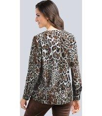 blus alba moda brun::antracitgrå::grå