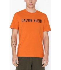 calvin klein performance short sleeve t-shirt tränings t-shirts burnt orange