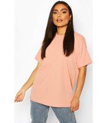 ribbed oversized t-shirt, blush