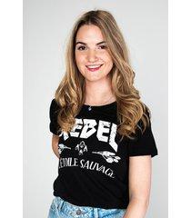 colourful rebel shirt / top zwart 8237
