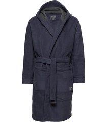 fleece robe ochtendjas badjas blauw abercrombie & fitch