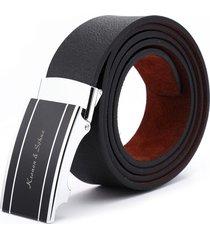 120cm moda hebilla de metal cinturones de cuero suave para hombres jeans bandas de cintura