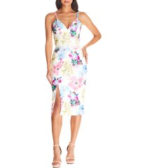 women's dress the population joelle floral print lace sheath