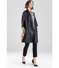 natori faux leather kimono top, women's, size xs