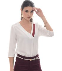 blusa para mujer en poliester blanco blanco talla xl