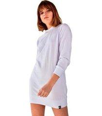 blusão vestido moletom manga longa brohood feminino - feminino