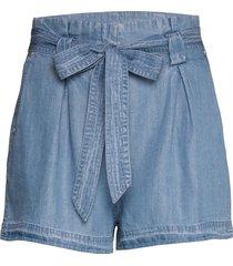 desert paper bag short shorts flowy shorts/casual shorts blå superdry