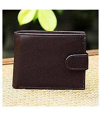 leather wallet, 'everyday traveler in espresso' (thailand)