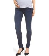 isabella oliver super stretch maternity skinny jeans, size 1 in indigo at nordstrom