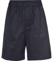 jil sander ribbed waist plain shorts