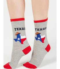 hot sox women's texas fashion crew socks