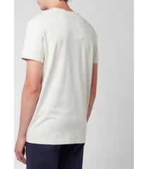 a.p.c. men's vpc colour logo t-shirt - beige - l