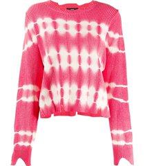 diesel tie-dye print jumper - pink