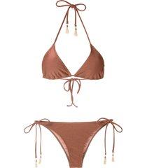 lygia & nanny maya tri bikini set - bronze
