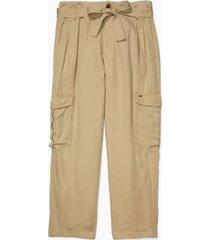 tommy hilfiger women's essential belted cargo pant cornstalk - 2