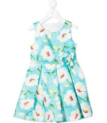 abel & lula all-over floral print dress - blue
