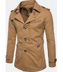 l'uomo ispira il cappotto di trincea casuale del collare del vestito di progettazione di un seno insignia