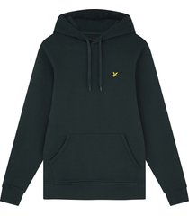 lyle and scott ml416vog lyle&scott pullover hoodie, w486 dark green