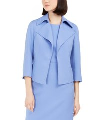 anne klein ridge crest wide collar twill jacket