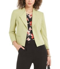 nine west open-front wing-collar jacket