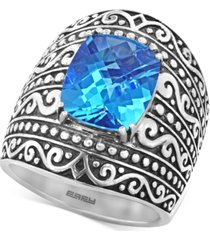 balissima by effy blue topaz (6-2/3 ct. t.w.) ring in sterling silver