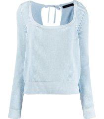 federica tosi crew neck l/s sweater w/bow