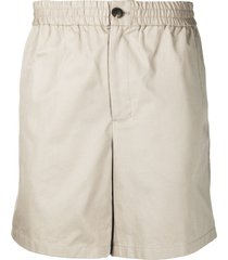 ami paris elasticated-waist bermuda shorts - neutrals