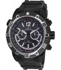 reloj invicta negro modelo 245ic para hombres, colección aviator